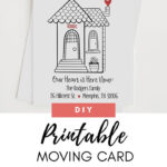 Moving Announcement, New Home, Moving, Change Of Address Inside Moving Home Cards Template
