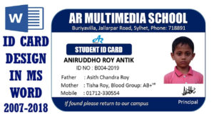 Ms Word Tutorial: How To Make Easy Student Id Card Design In Ms Word  2016 Two Part Id Card Design with regard to Isic Card Template
