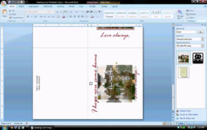 Ms Word Tutorial (Part 2) – Greeting Card Template throughout Birthday Card Template Microsoft Word