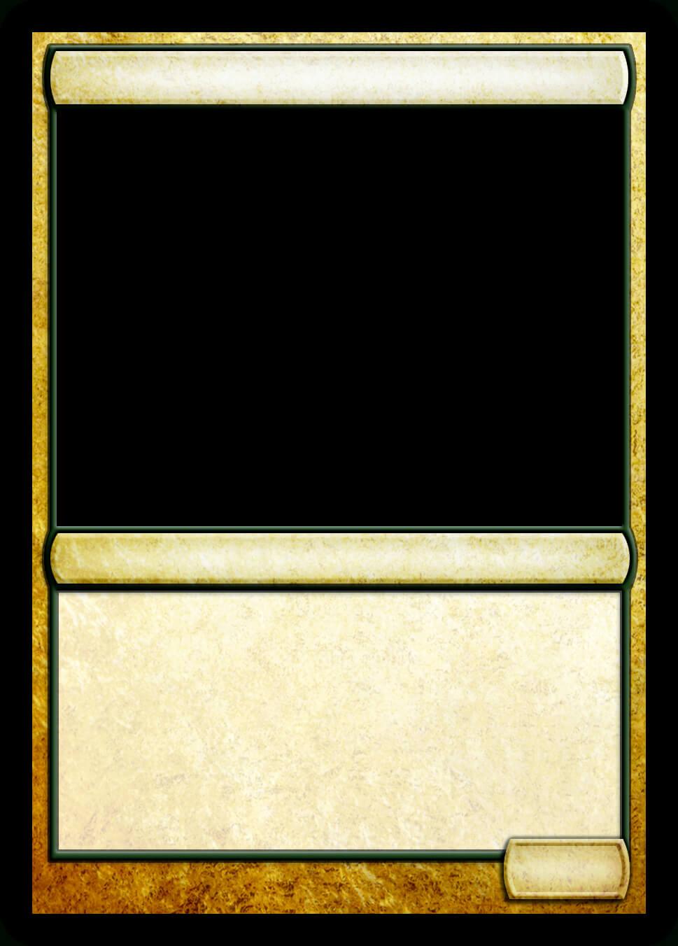 Mtg Multicolor Creature Template | Mtg Templates | Magic The Inside Magic The Gathering Card Template