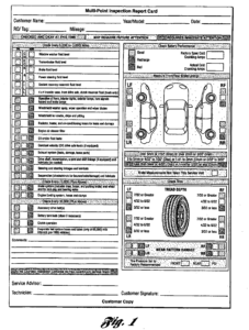 Multi Point Inspection Report Card As Recommendedford Regarding Truck Condition Report Template