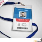 Multipurpose Company Id Card Free Psd Template   Templates Regarding Template For Id Card Free Download