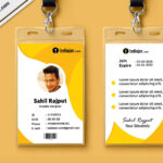 Multipurpose Corporate Office Id Card Free Psd Template Throughout Teacher Id Card Template