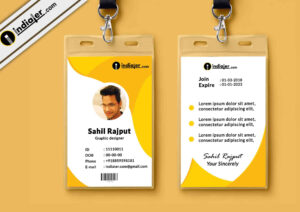 Multipurpose Corporate Office Id Card Free Psd Template throughout Teacher Id Card Template