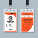 Multipurpose Corporate Office Id Card Free Psd Template With Regard To Template For Id Card Free Download