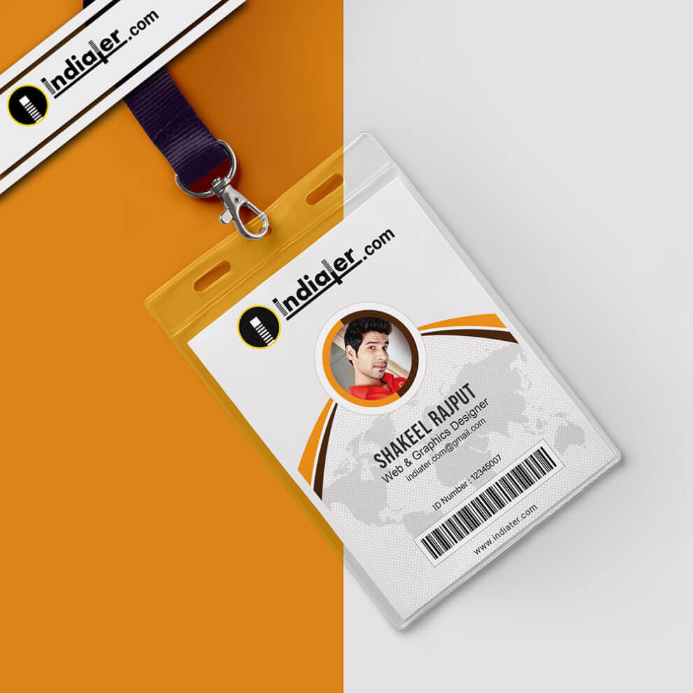 Multipurpose Corporate Office Id Card Free Psd Template Within Id Card Design Template Psd Free Download