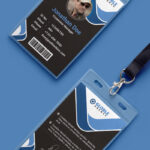 Multipurpose Dark Office Id Card Free Psd Template With Regard To Template For Id Card Free Download