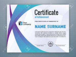 Multipurpose Modern Professional Certificate Template Design.. regarding Star Performer Certificate Templates