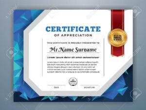 Multipurpose Modern Professional Certificate Template Design.. within Professional Award Certificate Template