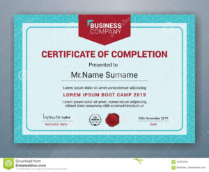 Multipurpose Professional Certificate Template Design For with Boot Camp Certificate Template