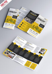 Multipurpose Tri-Fold Brochure Psd Template | Psdfreebies within 3 Fold Brochure Template Psd Free Download