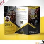 Multipurpose Trifold Business Brochure Free Psd Template Inside 3 Fold Brochure Template Psd