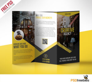Multipurpose Trifold Business Brochure Free Psd Template intended for 3 Fold Brochure Template Free Download