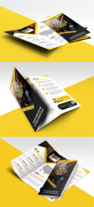 Multipurpose Trifold Business Brochure Free Psd Template pertaining to Free Tri Fold Business Brochure Templates