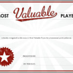 Mvp Certificate Blank Template - Imgflip regarding Player Of The Day Certificate Template