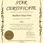 Name A Star Certificate Template – Top Image Gallery Site for Star Naming Certificate Template