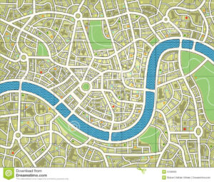 Nameless City Map Stock Vector. Illustration Of Survey – 5258569 inside Blank City Map Template