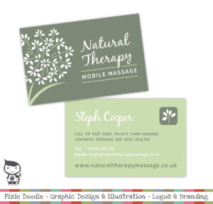 Natural Therapy Massage Logo Designwww.pixiedoodle.co.uk pertaining to Massage Therapy Business Card Templates