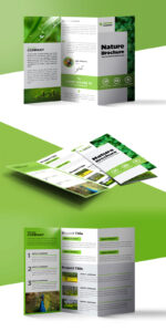 Nature Tri Fold Brochure Template Free Psd | Psdfreebies pertaining to 3 Fold Brochure Template Psd