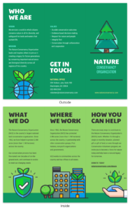 Nature Tri Fold Brochure Template – Venngage with Volunteer Brochure Template