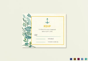 Nautical Wedding Rsvp Card Template with Template For Rsvp Cards For Wedding