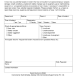 Near Miss Report Format – Fill Online, Printable, Fillable Inside Near Miss Incident Report Template