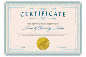 Necessary Parts Of An Award Certificate with Certificate Of Excellence Template Word