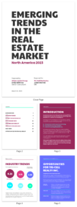 Neon Real Estate Market Industry Report Template Template intended for Real Estate Report Template