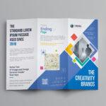 Neptune Professional Corporate Tri Fold Brochure Template Intended For Professional Brochure Design Templates