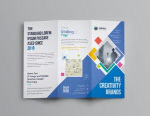 Neptune Professional Corporate Tri-Fold Brochure Template intended for Professional Brochure Design Templates