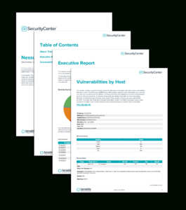 Nessus Scan Report – Sc Report Template | Tenable® for Nessus Report Templates