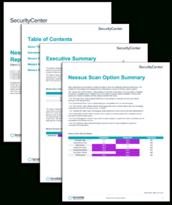 Nessus Scan Summary Report – Sc Report Template | Tenable® intended for Nessus Report Templates
