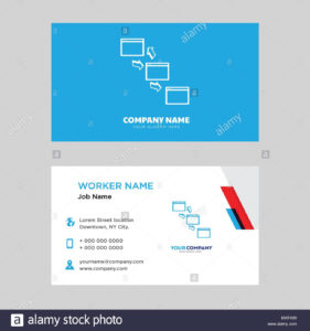 Networking Business Card Design Template, Visiting For Your within Networking Card Template