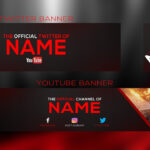 New 2017 Banner Template | Youtube Banner + Twitter Banner And Logo Psd |  With Free Download Regarding Twitter Banner Template Psd