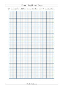 New A4 Sizes Added 2015-09-18! Three Line Graph Paper With for 1 Cm Graph Paper Template Word
