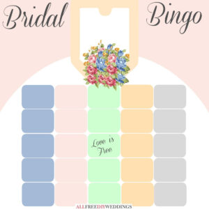 New Bridal Bingo: Free Bridal Shower Games inside Blank Bridal Shower Bingo Template