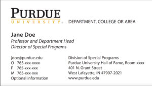 New Business Card Template Now Online – Purdue University News in Graduate Student Business Cards Template