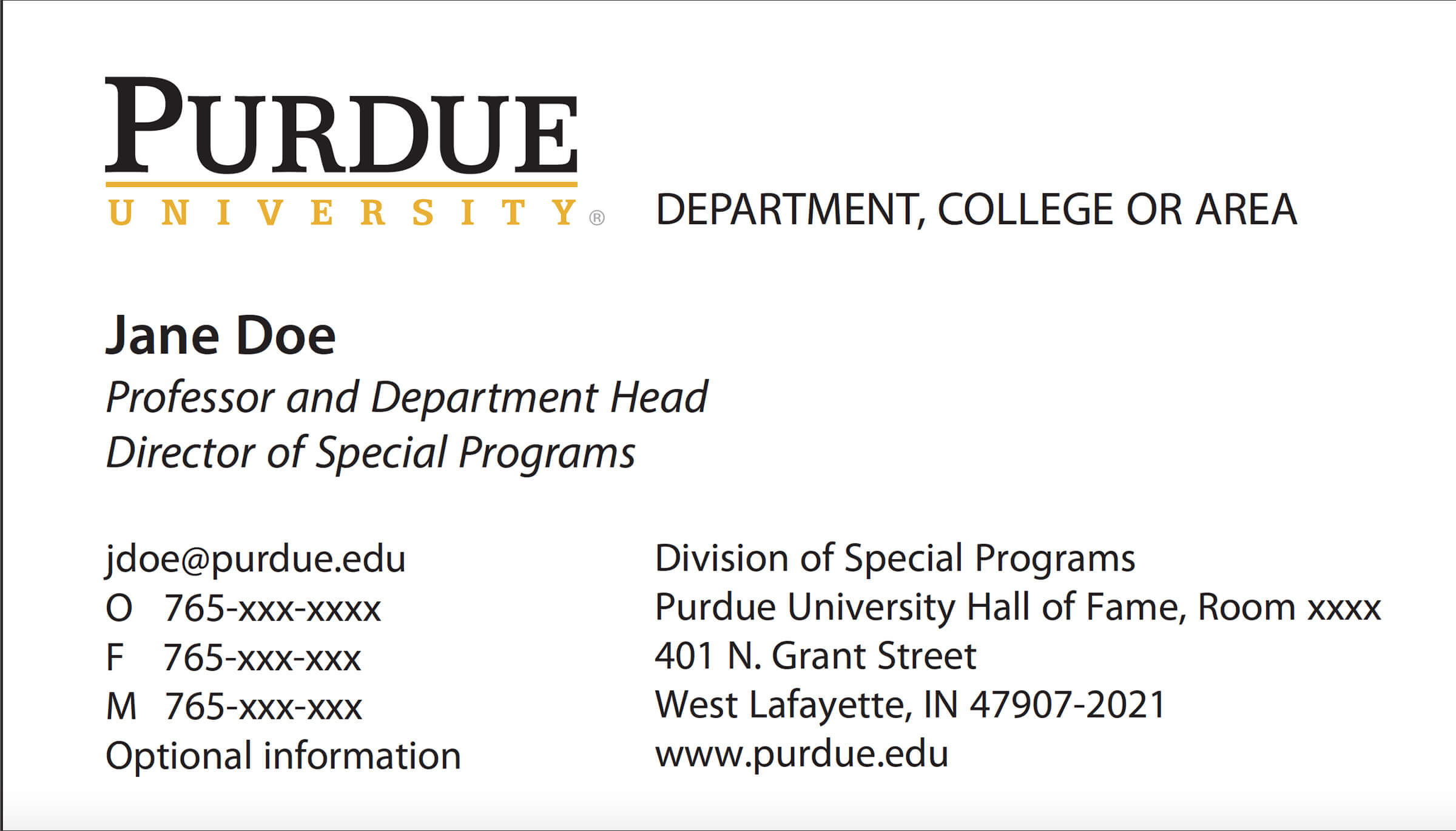 New Business Card Template Now Online - Purdue University News In Graduate Student Business Cards Template