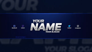 New Free 2018 Youtube Banner Template! – (Free Youtube Banner Template Psd) intended for Youtube Banner Size Template