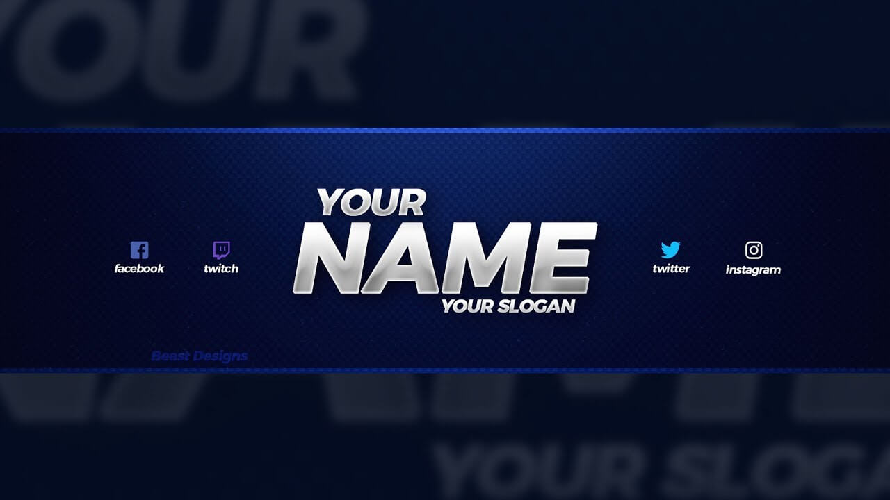 New Free 2018 Youtube Banner Template! - (Free Youtube Banner Template Psd) Within Youtube Banners Template