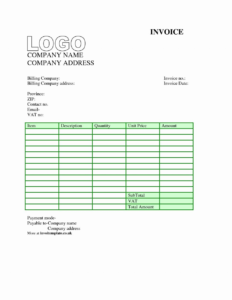 New Free Invoice Template For Word 2010 Best Of Wond intended for Invoice Template Word 2010