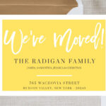 New Home Announcement Postcard, Moving Announcement Cards in Moving Home Cards Template