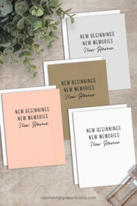 New Home Card Printable Calligraphy Housewarming Card New regarding Moving House Cards Template Free