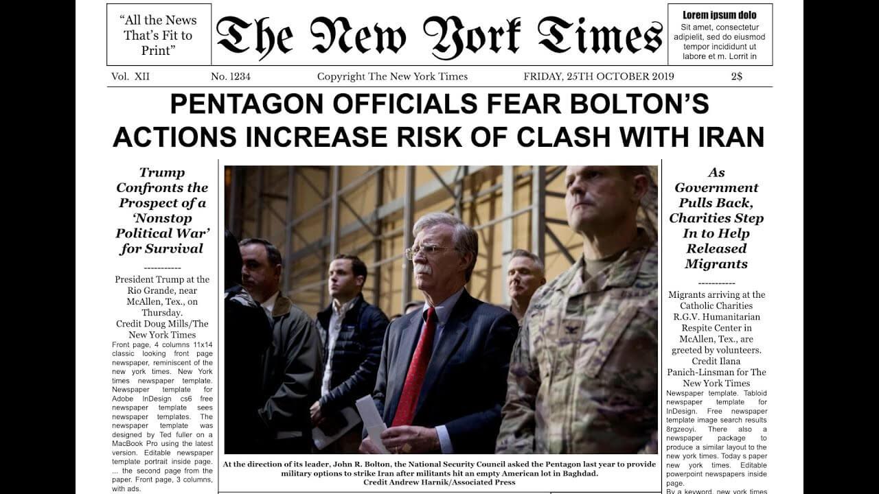 New York Times Newspaper Template Google Docs Intended For Newspaper Template For Powerpoint