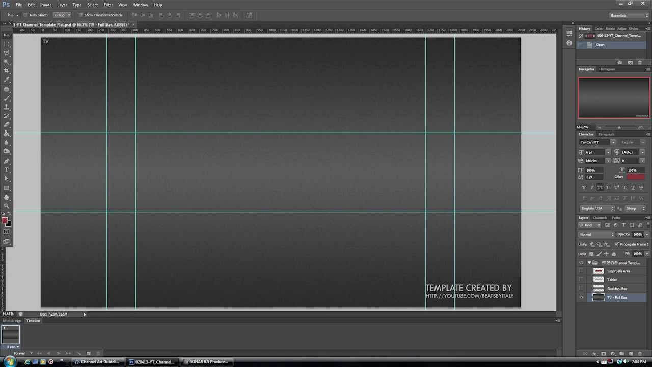 New Youtube Channel Design Banner Layout Psd Template 2013 + Png Pertaining To Youtube Banner Template Size