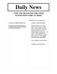 News Report Template Free Business Letter Pdf New Ks1 intended for Report Writing Template Ks1