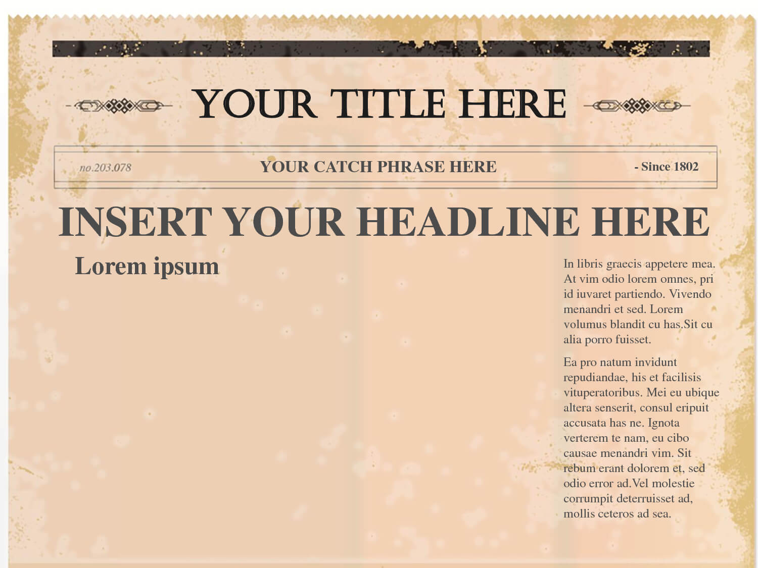 Newspaper Article Templates | A Wonderful Life | Blank For Newspaper Template For Powerpoint