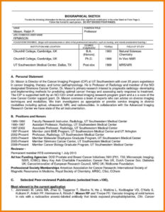Nih Biosketch Template Doc | Digitalhiten Inside Current Nih For Nih Biosketch Template Word