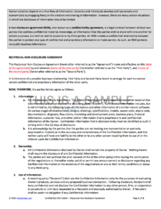 Non-Disclosure Agreement inside Nda Template Word Document