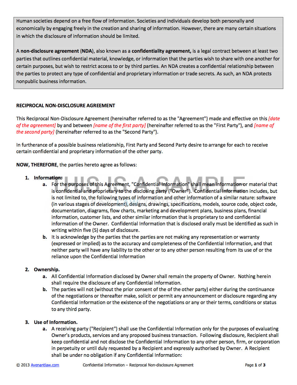 Non Disclosure Agreement Inside Nda Template Word Document